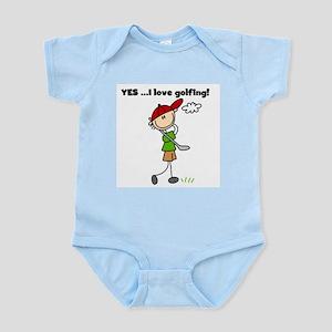 YES I Love Golfing Infant Bodysuit