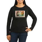 Girl Owl & Pumpkin Women's Long Sleeve Dark T-Shir