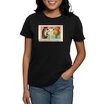 Girl Owl & Pumpkin Women's Dark T-Shirt