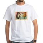 Girl Owl & Pumpkin White T-Shirt