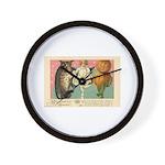 Girl Owl & Pumpkin Wall Clock