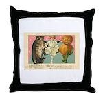 Girl Owl & Pumpkin Throw Pillow