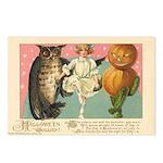 Girl Owl & Pumpkin Postcards (Package of 8)