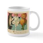 Girl Owl & Pumpkin Mug