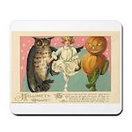 Girl Owl & Pumpkin Mousepad