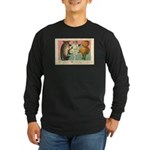 Girl Owl & Pumpkin Long Sleeve Dark T-Shirt