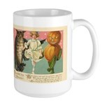 Girl Owl & Pumpkin Large Mug