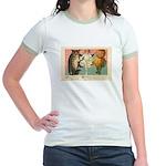 Girl Owl & Pumpkin Jr. Ringer T-Shirt
