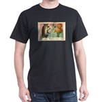 Girl Owl & Pumpkin Dark T-Shirt