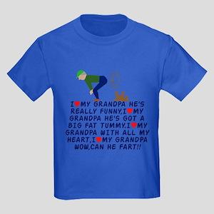 I love Grandpa Kids Dark T-Shirt