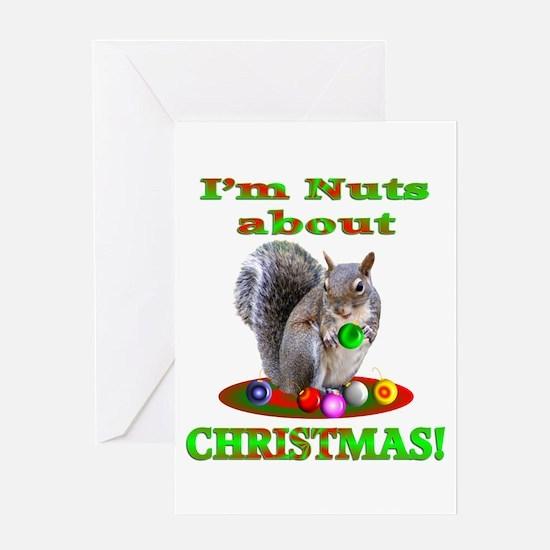 Squirrel Christmas Greeting Card