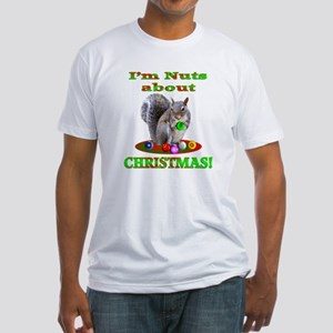 Squirrel Christmas Fitted T-Shirt