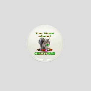 Squirrel Christmas Mini Button