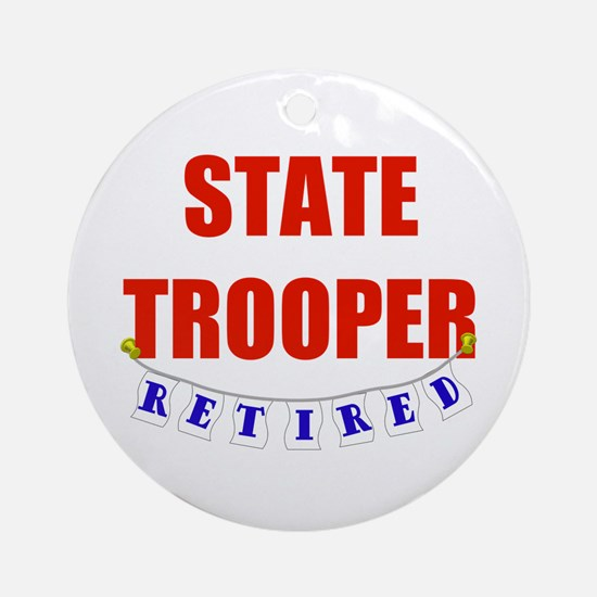 Retired State Trooper Ornament (Round)