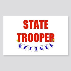 Retired State Trooper Rectangle Sticker