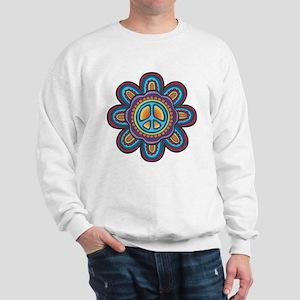 Hippie Peace Flower Sweatshirt