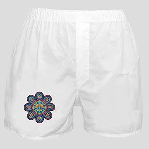 Hippie Peace Flower Boxer Shorts