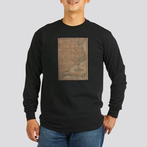 Vintage Map of Eastern North C Long Sleeve T-Shirt