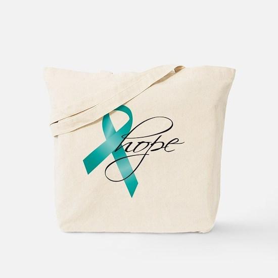 Cervical Cancer Ribbon Hope Tote Bag