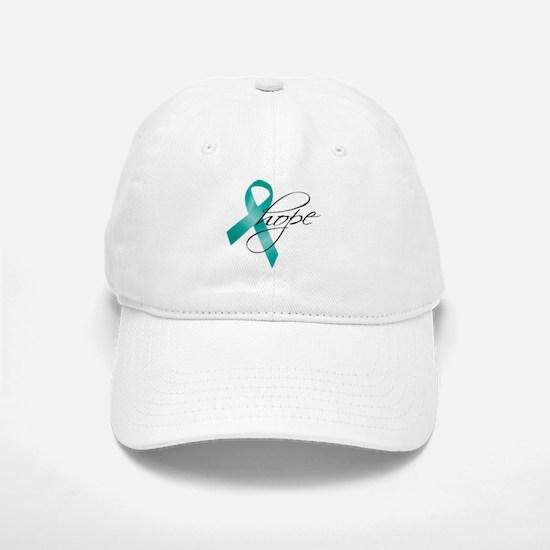 Cervical Cancer Ribbon Hope Baseball Baseball Cap