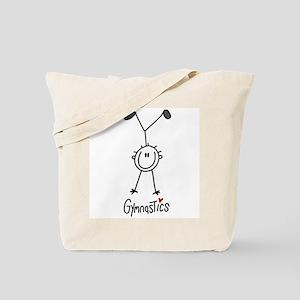 Stick Figure Gymnastics Tote Bag
