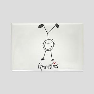 Stick Figure Gymnastics Rectangle Magnet