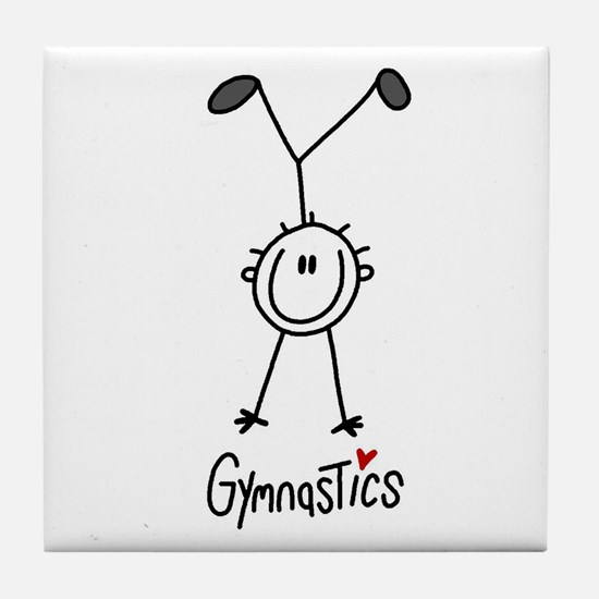 Stick Figure Gymnastics Tile Coaster