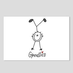 Stick Figure Gymnastics Postcards (Package of 8)