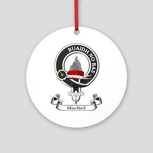 Badge-MacNeil Round Ornament