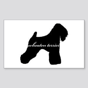 Wheaten Terrier DESIGN Rectangle Sticker