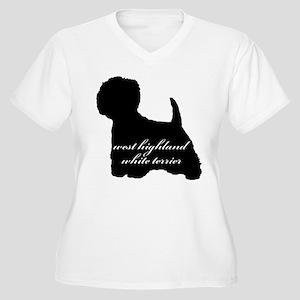 Westie DESIGN Women's Plus Size V-Neck T-Shirt