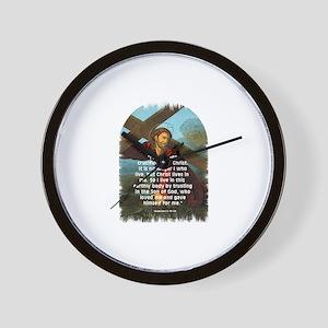 Live by Faith Wall Clock