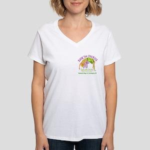 Save the Faeries in Souhhampton Women's V-Neck T-S