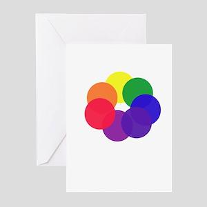 Rainbow Rings Greeting Cards (Pk of 10)