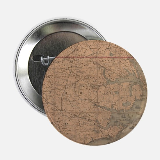 """Vintage Map of Eastern Nor 2.25"""" Button (100 pack)"""