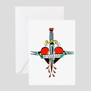 Mi Vida Loca Tattoo Art Greeting Card