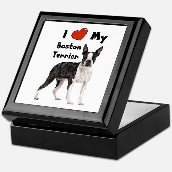 I Love My Boston Terrier Keepsake Box