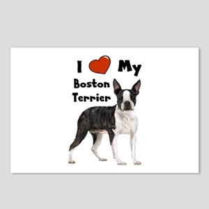 I Love My Boston Terrier Postcards (Package of 8)