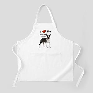 I Love My Boston Terrier BBQ Apron