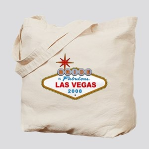 Bride In Fabulous Las Vegas Sign 2008 Tote Bag
