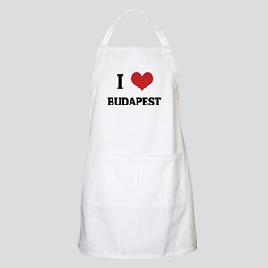 I Love Budapest BBQ Apron