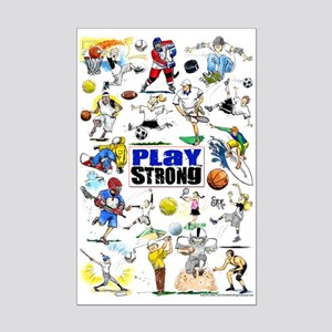 Play Strong Montage Mini Poster Print