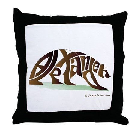 Alexander (Brown Bear) Throw Pillow
