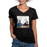 Fireworks Trucking Women's V-Neck Dark T-Shirt