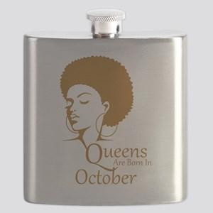 Queens Are Born In October Black Women Birthday Fl