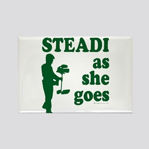 Steadi as she Goes! Rectangle Magnet
