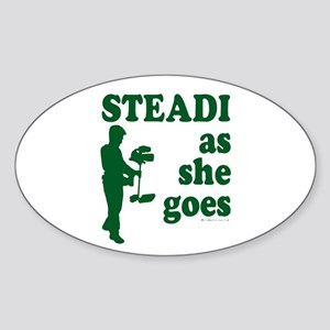 Steadi as she Goes! Oval Sticker