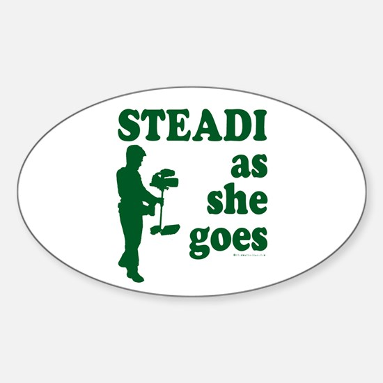 Steadi as she Goes! Oval Decal