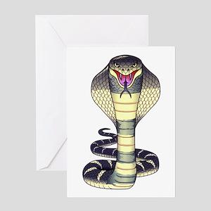 Cobra Snake Serpent Tattoo Greeting Card
