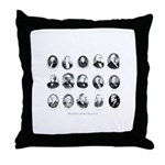 Freemason Presidents Throw Pillow